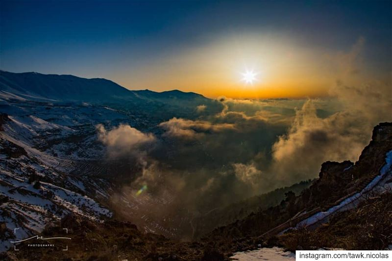 Mother nature at its best.Bcharreh and kadisha valley under the sea of... (Bcharreh, Liban-Nord, Lebanon)